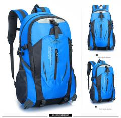 40L Men Backpack Unisex Mountaineering Bag Nylon Waterproof Bags Travel Backpacks Sports Bags blue 40 L