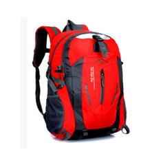 40L Men Backpack Unisex Mountaineering Bag Nylon Waterproof Bags Travel Backpacks Sports Bags Red one size