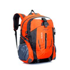40L Men Backpack Unisex Mountaineering Bag Nylon Waterproof Bags Travel Backpacks Sports Bags Orange one size