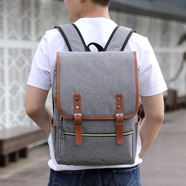 471e755677 Vintage Men Women Canvas Backpacks School Bags Large Capacity Laptop  Backpack Fashion Men Backpack gray one size  Product No  3186031. Item  specifics ...