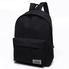 Men Canvas Backpack College School Backpack Bags for Teenagers Casual Rucksack Travel Daypack black one size