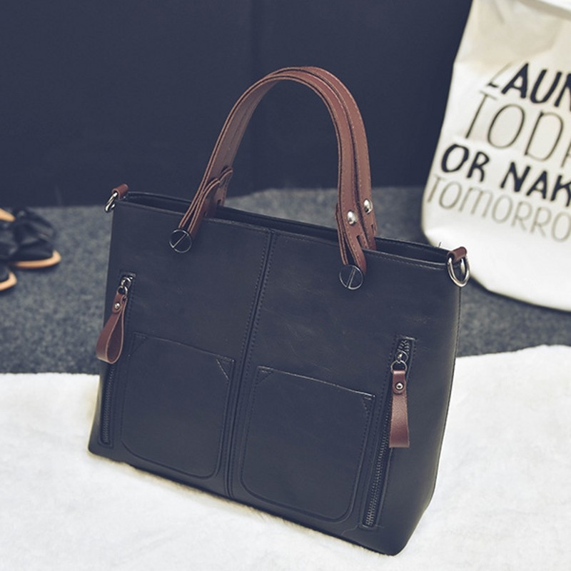 520b1f1dbda Luxury Handbags Women Bags Designer Litchi handbags Casual Messenger Bag  Large Capacity Shoulder Bag black one size