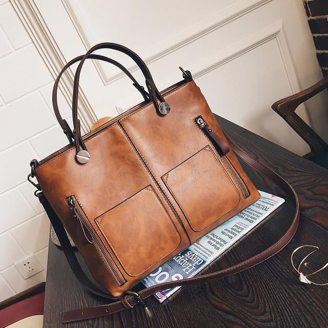 Luxury Handbags Women Bags Designer Litchi handbags Casual Messenger Bag Large Capacity Shoulder Bag brown one size