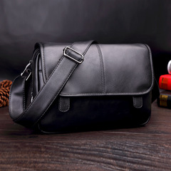 Luxury Casual Men's Leather Shoulder Bag Men Travel Bags Male Messenger Bags Man Crossbody Bags black one size