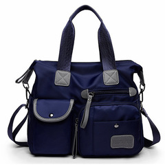2018 Women Travel Bag Diagonal Bags Large Capacity Waterproof Nylon Handbag Female Shoulder Bags navy one size