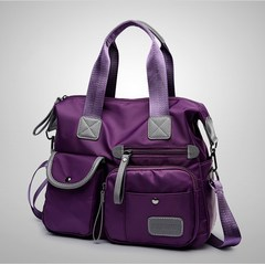 2018 Women Travel Bag Diagonal Bags Large Capacity Waterproof Nylon Handbag Female Shoulder Bags purple one size