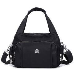 Large Capacity Casual Nylon Bag Shoulder Bags Messenger Multilayer Bag Waterproof Nylon Lady Handbag black one size