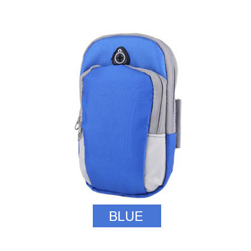 Bag For Phone On Hand Sports Running Armband Bag Mobile Phone Bags Holder Outdoor Sport Arm Pouch blue one size