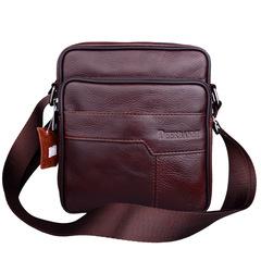 Genuine Leather Bag Man Casual Business Messenger Bag Men's Crossbody Bag Male Vintage Shoulder Bags brown one size