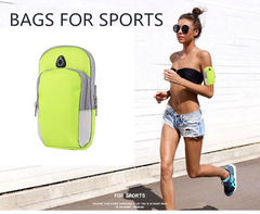 Bag For Phone On Hand Sports Running Armband Bag Mobile Phone Bags Holder Outdoor Sport Arm Pouch green one size