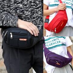 Outdoor Portable Waist Pack Multifunction Running Waterproof Waist Bag Wallet Mobile Phone Holder black one size