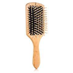 ProfessionalTeasing Back Hair Brushes Wood Slim Line Comb Hairbrush Extension Hairdressing Styling black one size