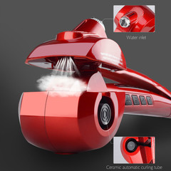 Steam Spray Automatic Hair Curler Hair Curling Iron Ceramic Professional Deep Wave Hair Waver red one size