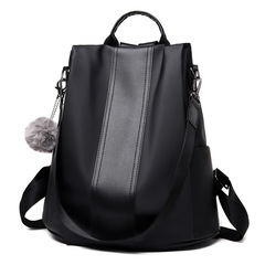 Anti-theft Women's Version of  Large Capacity College Bag Leisure Shopping Multi-functional Backpack black one size