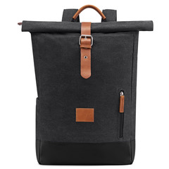 Men Large Capacity Durable  Outdoor Exercise Multi-use Travel Luggage Backpack Canvas dark gray one size
