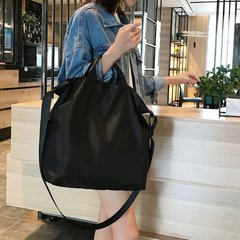 2019 New Fashion Women Large Capacity Handbags Vintage Waterproof nylon Shopping Tote Travel Bag black one size