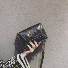 Fashion Crocodile Grain Small Flap Cross Body Bags Shoulder Bag Ladies Casual Korean Style Phone Bag black one size