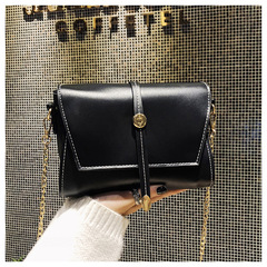 European and American Fashionable Gradient Chain Single-shoulder Slant Cross Ladies' Hand Bag black one size