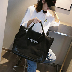 New Fashion Canvas Shoulder Bag Women Canvas Messenger Bag Ladies Handbag Totes black one size