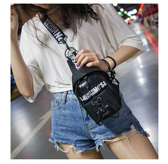 Classic Skateboarding Breast Pack Street Handbag Fashion Women Bags Crossbody Bags black one size