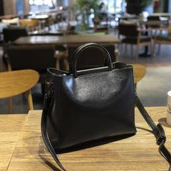 The New Trend of Fashion Handbags Women Bag Quality Pu Leather Bucket Bag Portable Shoulder Bag black one size