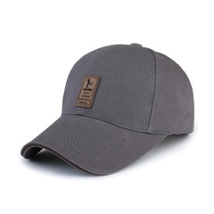 Baseball Cap Men's Adjustable Cap Casual leisure hats Solid Color Fashion Snapback Summer Fall hat Grey