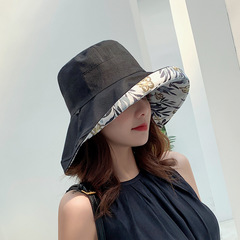 Fashion Design Flower Foldable Hat Summer Hats for Women UV Protection Beach Sun Hats Outdoor black