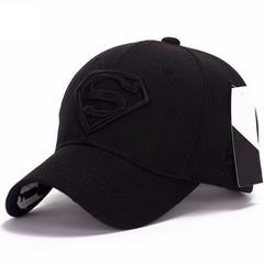 Fashion Men Women Snapback Baseball Cap Adjustable Hat Superman Hip-hop Cap black