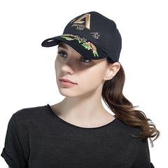 2019 New Ladies' Hats Embroidered Baseball Caps Outdoor Sun Block Baseball Caps black