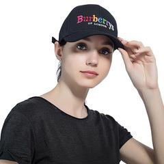 Women's Baseball Cap New Fashion  Embroidery Cotton Baseball Cap youth Boys Girls Hip Hop Flat Hat black