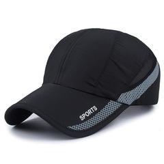 2019 Men Women Outdoor Sport Baseball Mesh Hat Running Visor Quick-drying Cap black