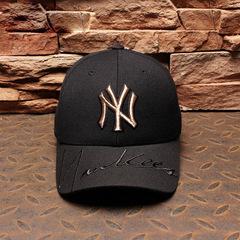 Baseball Cap Casual Riding Cap Gold Standard Yankees Hip Hop Monochrome Fashion Truck Cap black 54-58cm adjustable