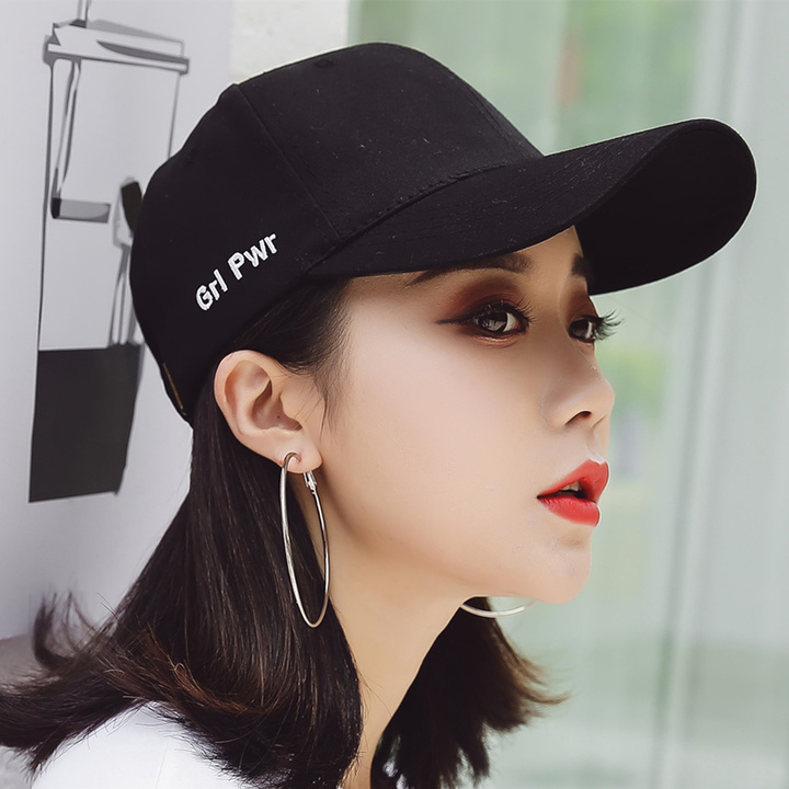 2019 Hat Women's Summer Korean Couple Caps Hipsters Wild Baseball Cap Men's Summer black-G
