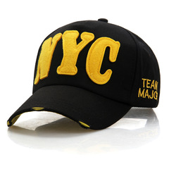 Casual Baseball Cap Women Cotton Casquette Bone Snapback Hats Caps Men Nyc Letter NY Baseball Caps black