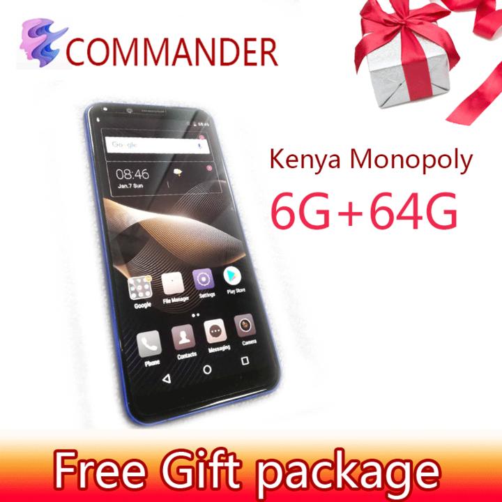 Kenya Monopoly New mobile phone Commander 5 9 inch HD 6+64GB Fingerprint  unlock Smart phone android 6G+64G Blue