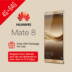 Refurbished Huawei Mate8 Smartphone 4+64GB Dual SIM Gold Get Limited Gift Gold 4G+64G