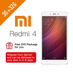 Refurbished  Xiaomi Redmi4 3+32GB Smartphone Dual SIM Gold Get Limited Gift 3G+32G Gold
