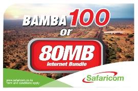 Safaricom airtime 100KSH white