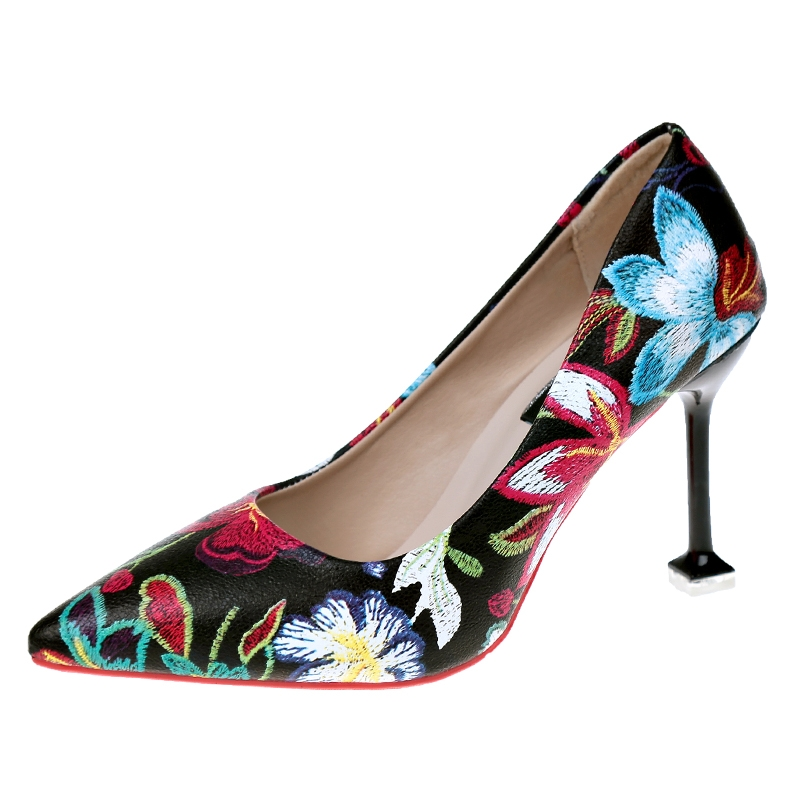 b99c4774ad0 US SHOES Traditional National Vintage Style PU Leather Pointed Toe ...
