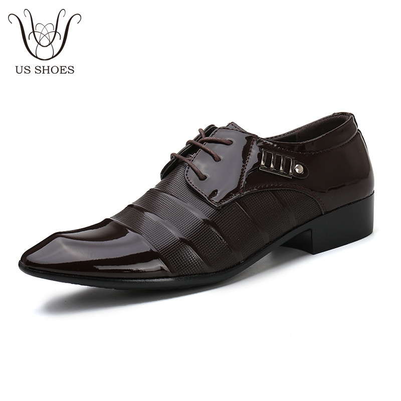Item specifics  Brand  US SHOES Office Businessman Suit England Style Pointed  Toe Leather Dress Formal Wedding Men Shoes 55ad2677fb12