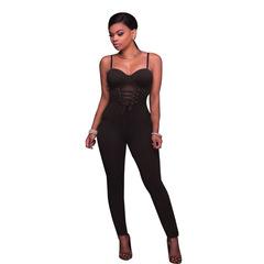 Kenya sexy Women High Waist Strapless Jumpsuit Black Slim Jumpsuit Women Suspenders Jumpsuits brown m