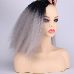 T color synthetic hair weave Matte high temperature silk hair weave synthetic long hair best price T1B/0906 16 INCH  70G