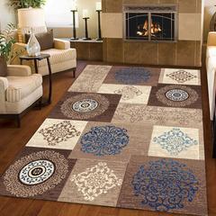 Home floor geometric figure carpet children's non-slip carpet multifunction carpet kitchen mat cl-63 50*80cm