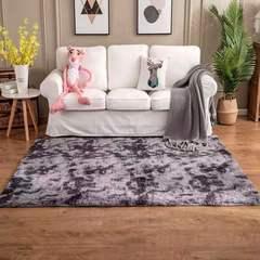 Living room plush carpet gradient ramp carpet bedroom carpet tea table blanket bed carpet window mat dark gray 50*80cm