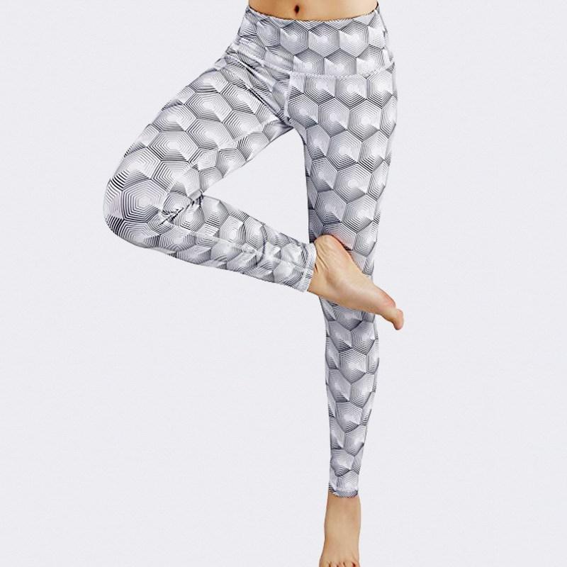 81075e0c5 2018 Fashion Hot Sell Women's High Wais trousers Geometric digital ...