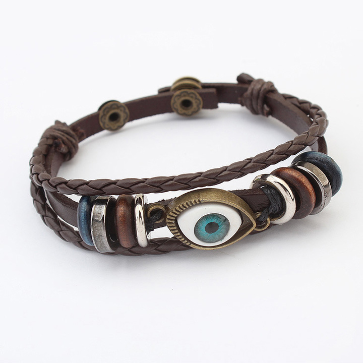 736bb258ca065 Women/Man Fashion Multilayer Bracelets Eyes Hand Accessories Retro Hand  Jewellery coffee one size
