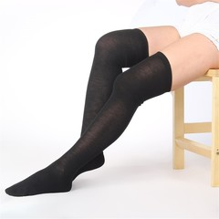 Womem Pure Cotton Long Socks Over Knee Thigh High Hose Trendy Stockings