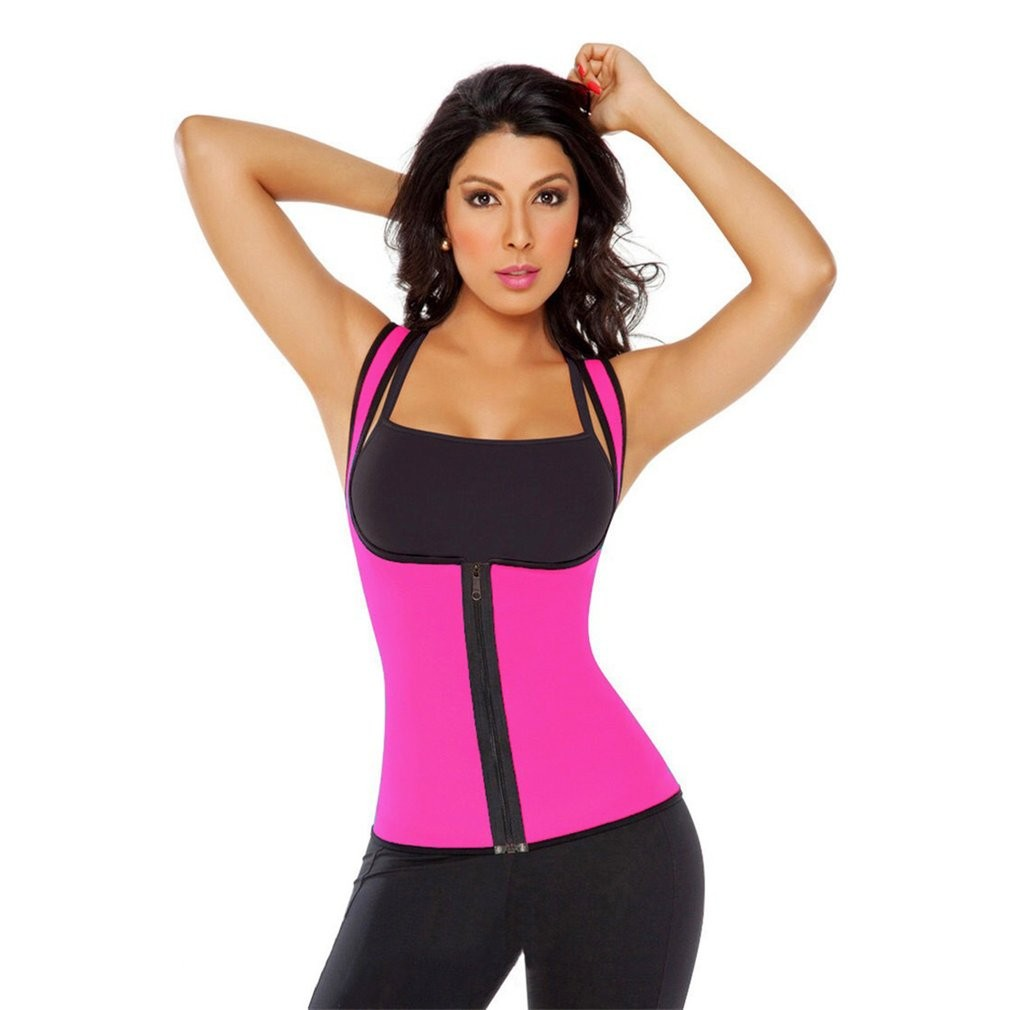 Womens Waist Trainer Thermal Vest Underbust Corset Floral Cincher Body Shaper