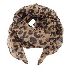 Premium Soft Sheer Infinity Scarf with Leopard Print Fashion All-match Style