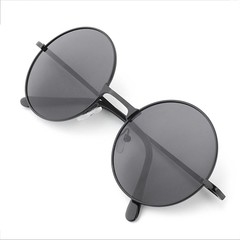 Unisex Fashion Vintage Round Frame Lens Sunglasses Eye Wear Portable Eyewear